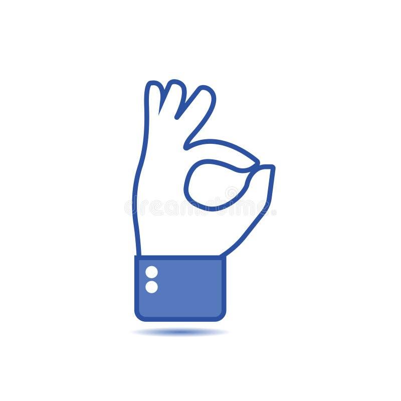 Handgest med det ok tecknet, ok tecken Social symbol den dåliga falska gesthanden betyder nr Som gest Handshowgest av oken, godkä vektor illustrationer