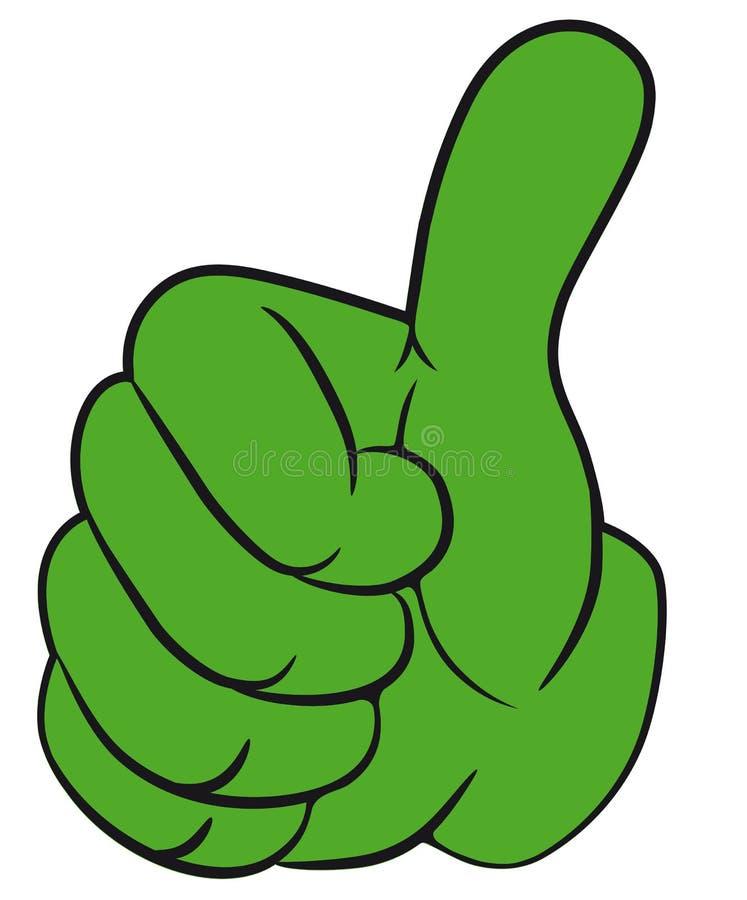 Handgeste mit dem Daumen oben. lizenzfreie abbildung