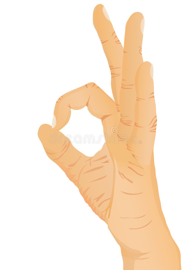 Handgeste - OKAY vektor abbildung