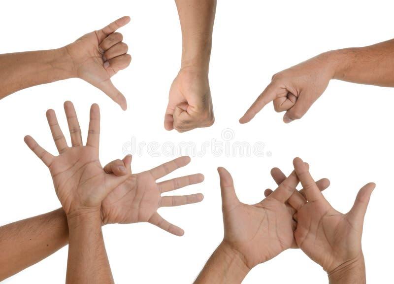 Download Handgesten stockbild. Bild von mehrfach, leer, zeichen - 26370067
