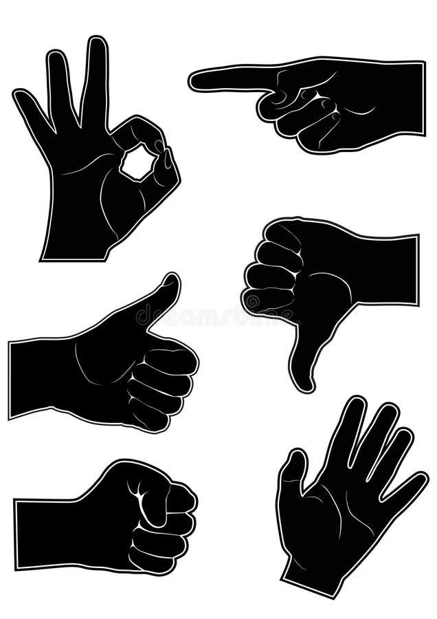 Handgesten lizenzfreie abbildung