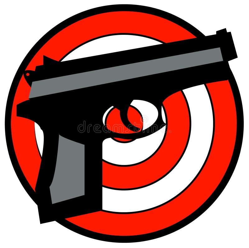 Handgewehr mit Ziel lizenzfreie abbildung