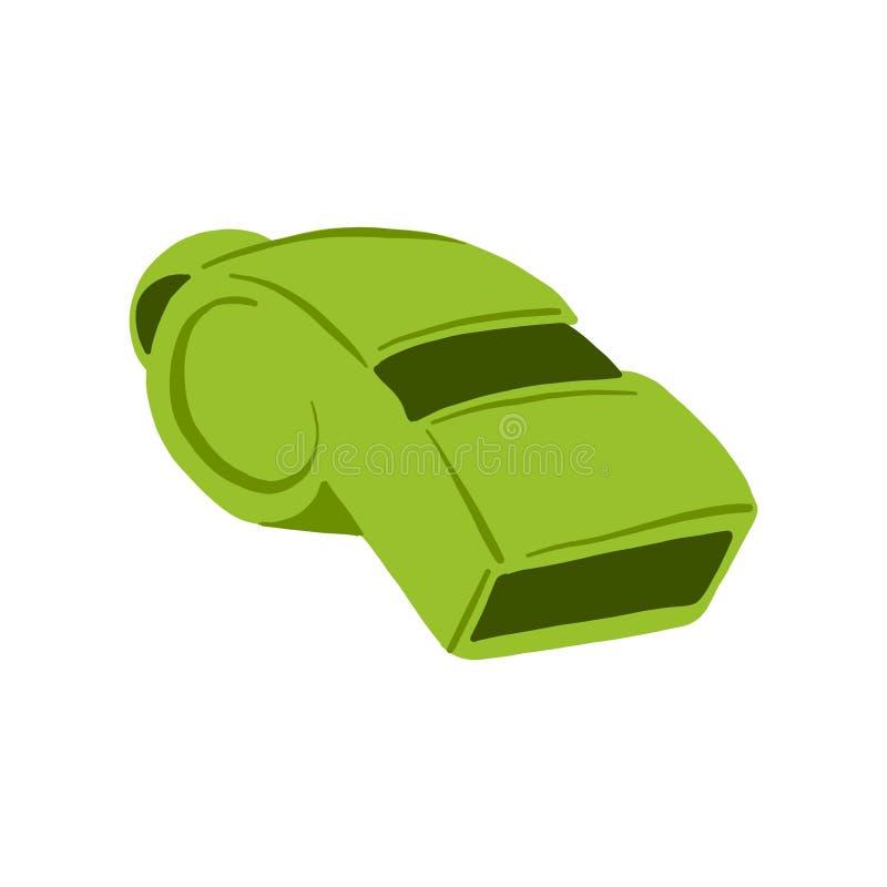 Handgezogene Vektor-Pfeifenikone für das Logo, Fahne, Plakat, Sportereigniseinladung oder Promoillustration lokalisiert auf weiße vektor abbildung