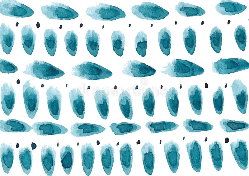 Handgezogener Hintergrund mit colorfull Aquarell befleckte vektor abbildung