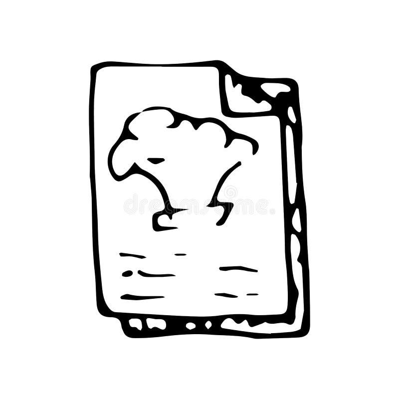Handgezogenes Koch-Buchgekritzel Skizzenartikone Eingelassenes Genua, Italien Getrennt auf weißem Hintergrund Flaches Design Auch vektor abbildung