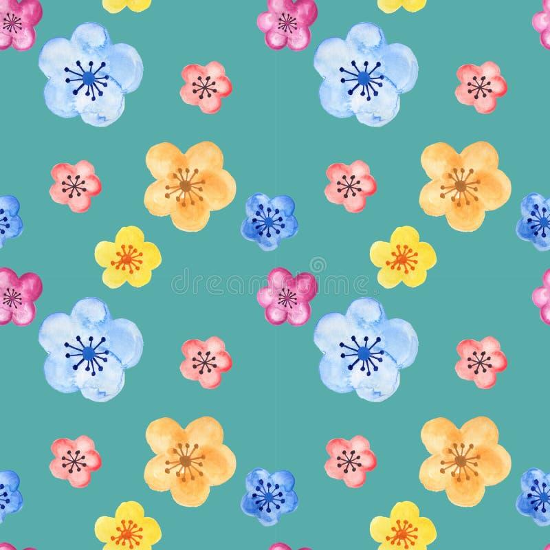 Handgezogenes nahtloses Hintergrundmuster angespornt durch chinesischen Koreaner- und Japan-Kimono yukata Hintergrundhintergrund- lizenzfreie abbildung