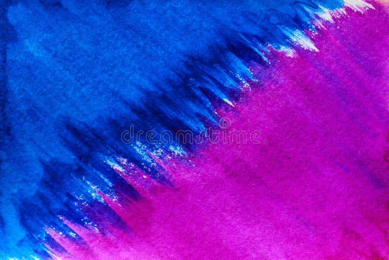 Handgjord abstrakt vattenfärg arkivbild