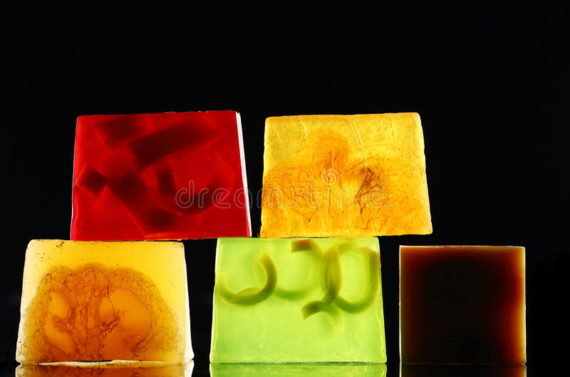 Handgjord backlit tvål arkivfoton