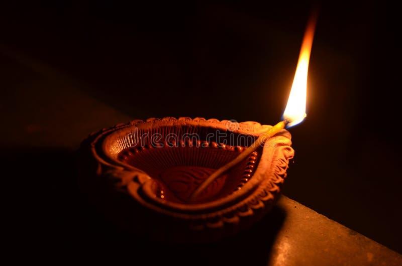 Handgjord Diwali diya arkivfoton