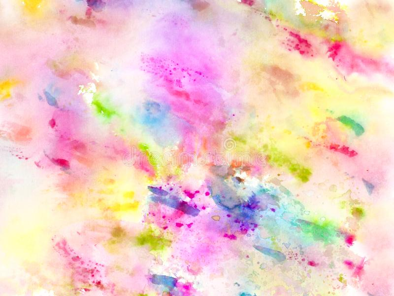 Handgjord färgrik wateroclorbakgrund royaltyfri illustrationer