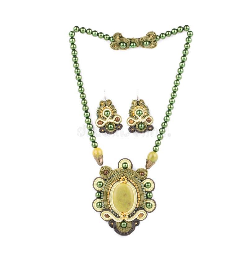 Handgjord härlig halsband royaltyfri bild