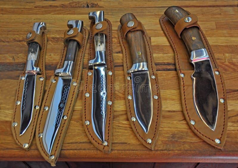 Handgjord kniv royaltyfri fotografi