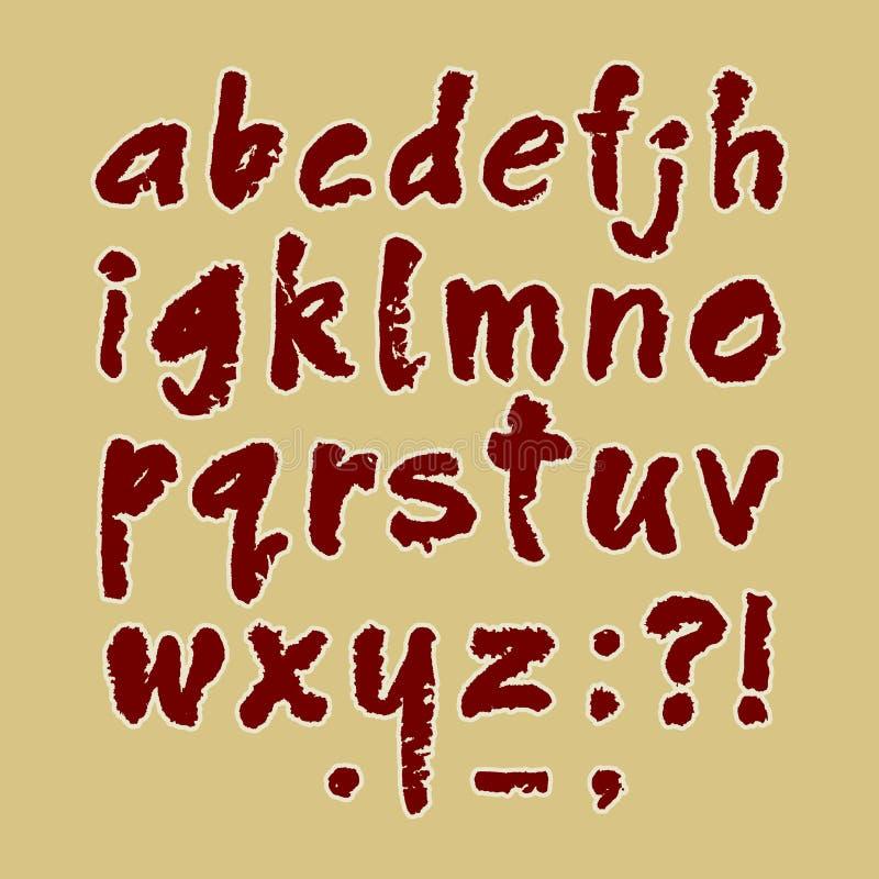 Handgjord lowercase för ABC