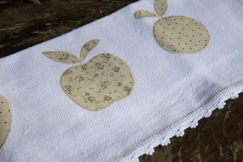 handgjord matr?tttorkduk royaltyfri bild
