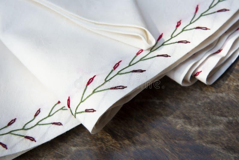 handgjord matr?tttorkduk royaltyfri foto