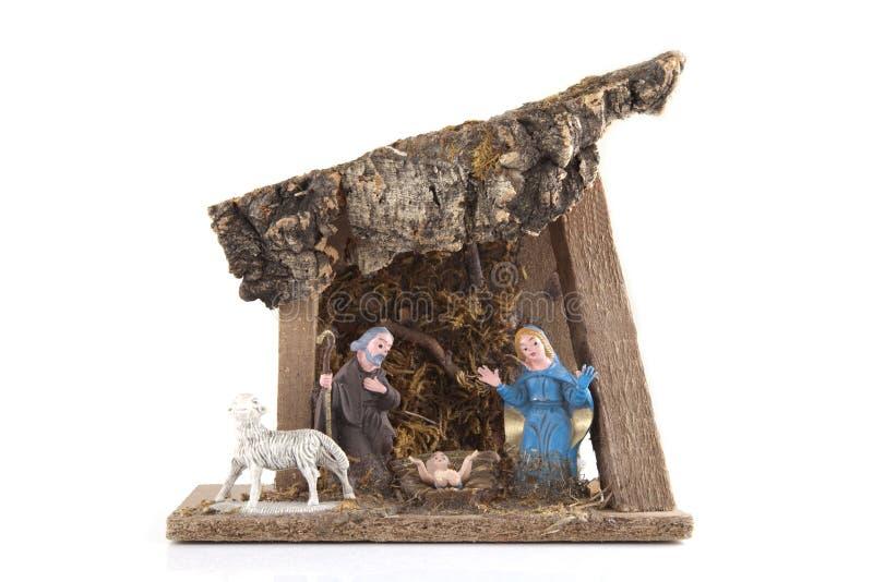 handgjord nativity royaltyfri bild
