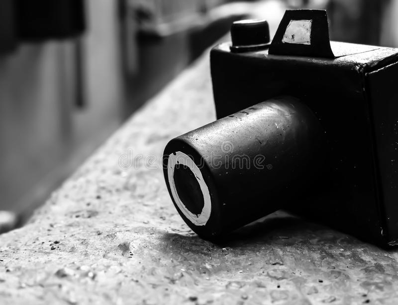 Handgjord tändsticksaskkamera fotografering för bildbyråer