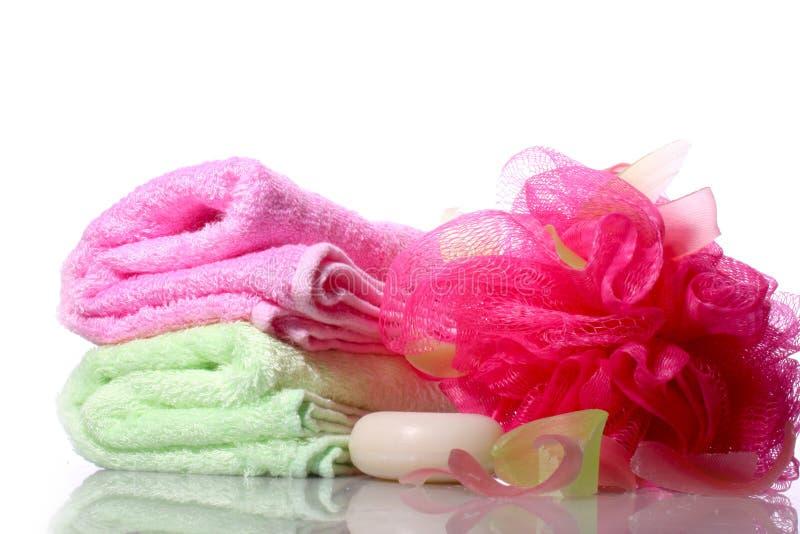 handgjord tvålwashcloth arkivfoto