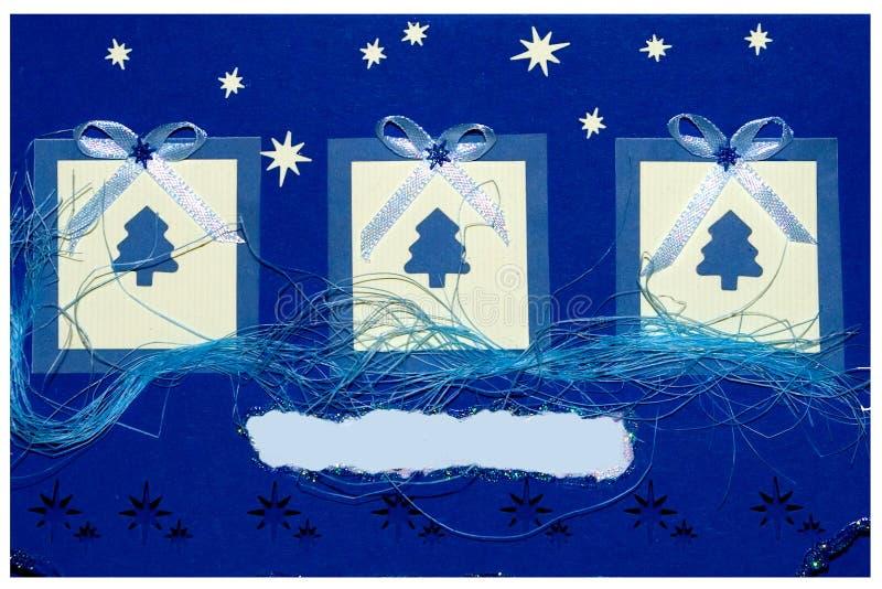 handgjord vykort för jul stock illustrationer