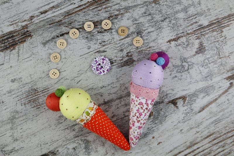 Handgjorda glassar fotografering för bildbyråer