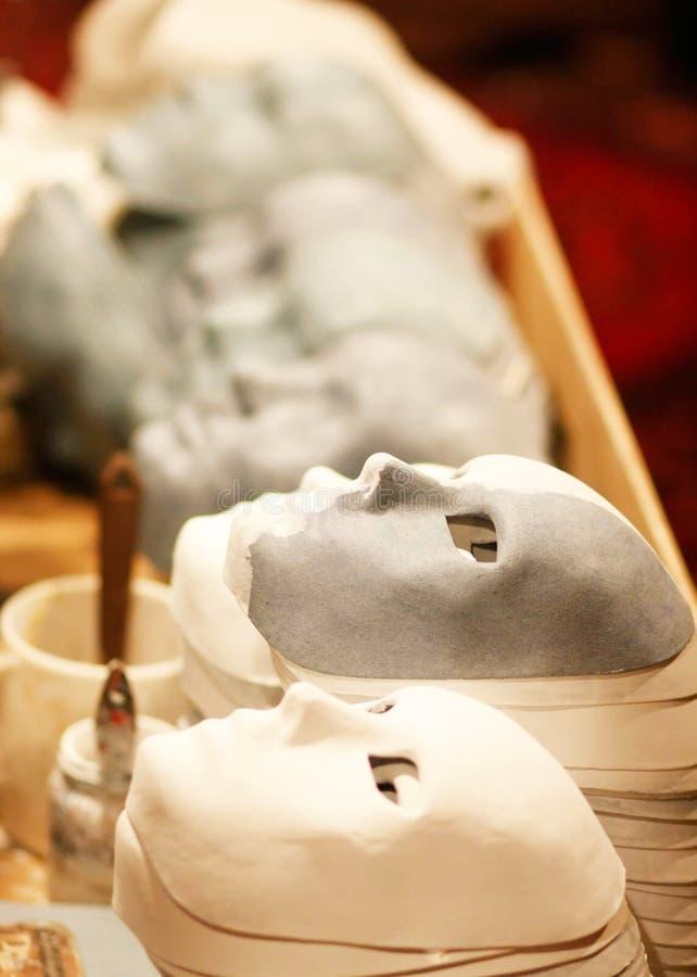 handgjorda maskeringar arkivfoto