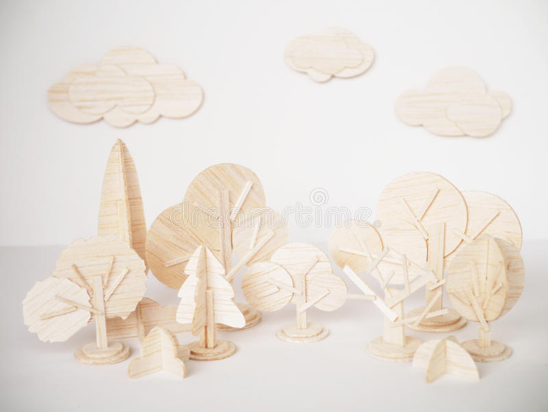 Handgjort minsta för miniatyrträbitande konstverkhantverk för modell royaltyfri bild