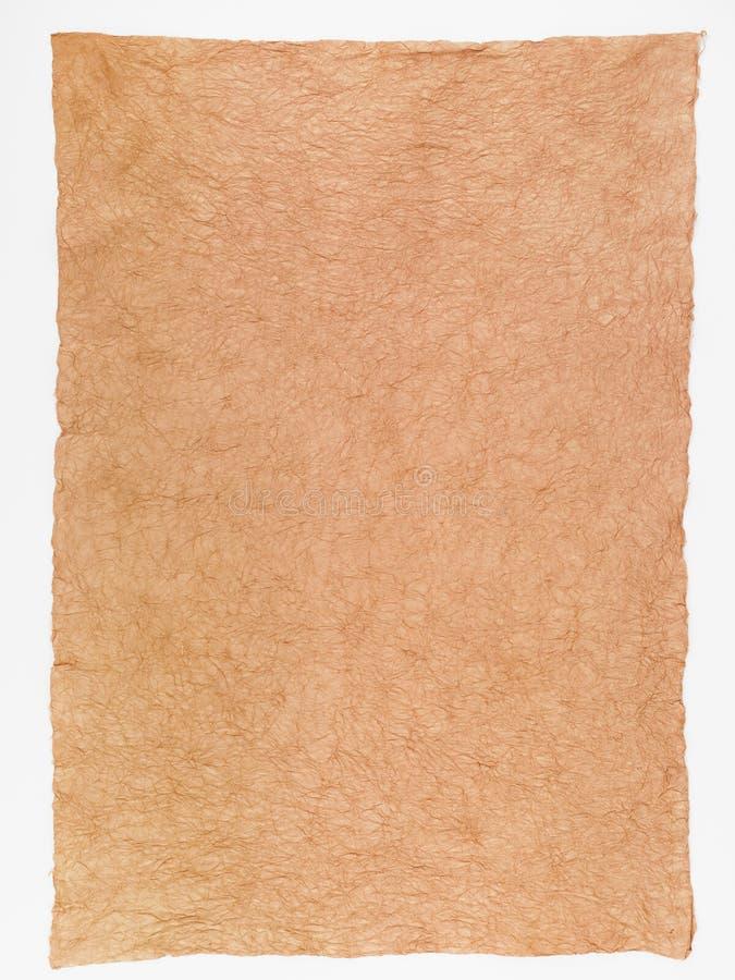 Handgjort papper för historisk dokumentbakgrund fotografering för bildbyråer