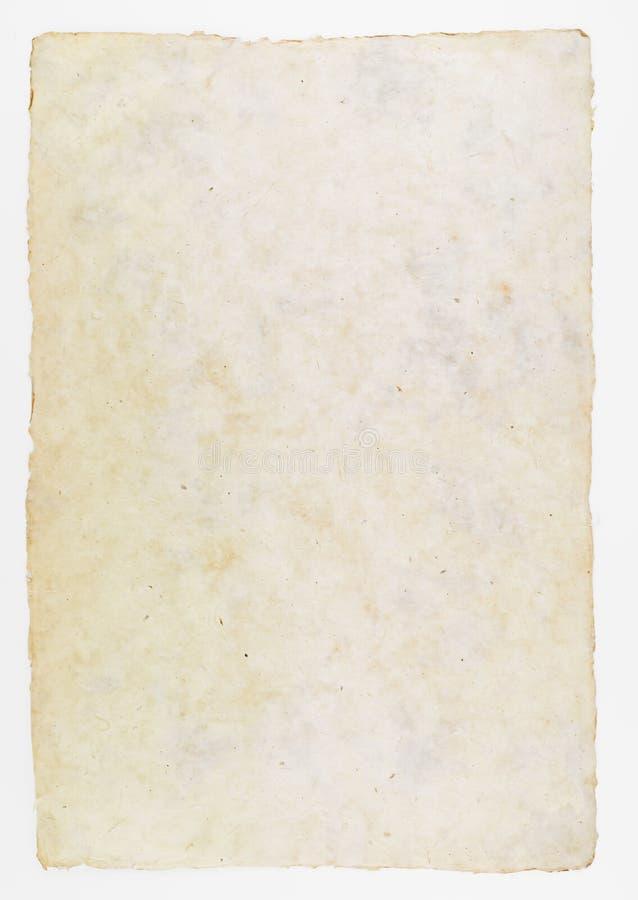 Handgjort papper för historisk dokumentbakgrund arkivfoto
