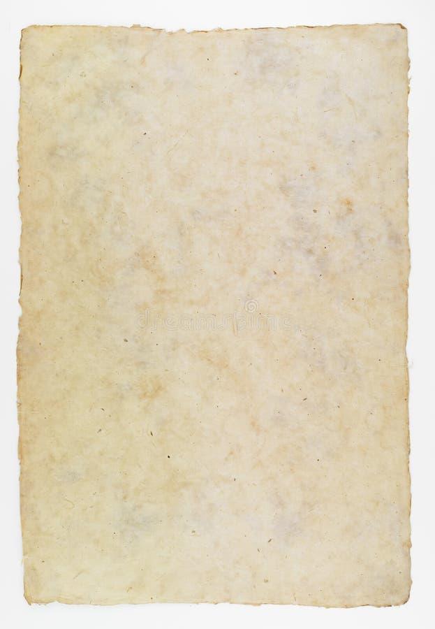 Handgjort papper för historisk dokumentbakgrund arkivfoton
