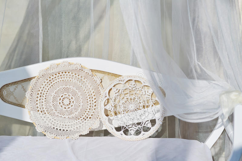 Handgjort snöra åt garneringdetaljer royaltyfri fotografi