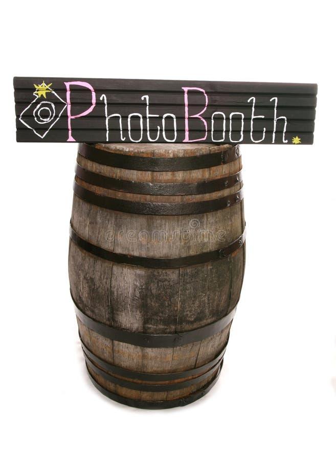Handgjort svart tavlaphotoboothtecken och trumma arkivbild