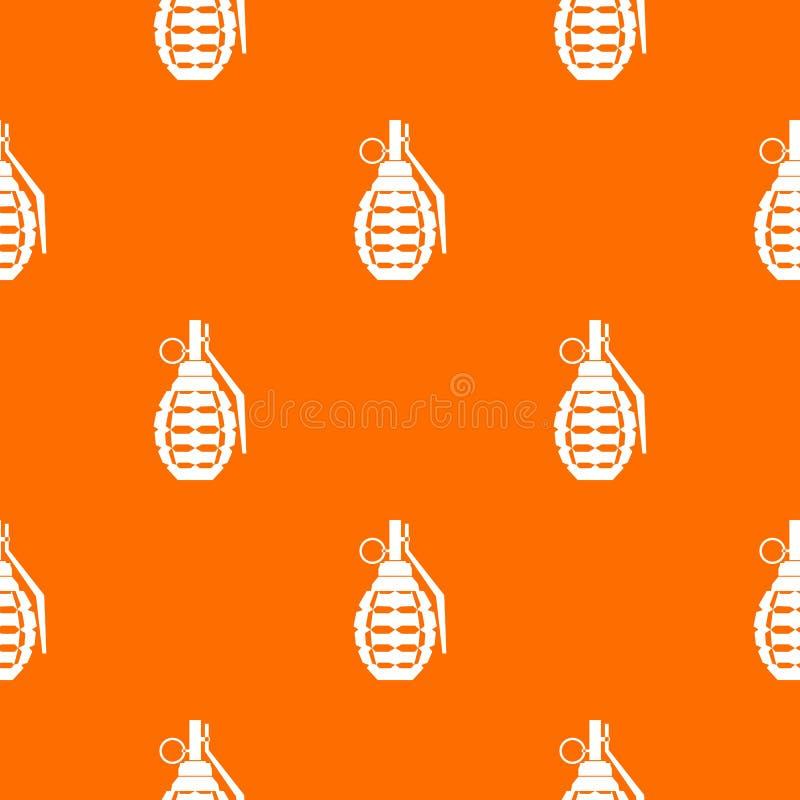 Handgranate, Bombenexplosionsmuster nahtlos lizenzfreie abbildung