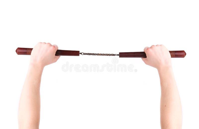 Handgriff-Kampfkünste nunchaku lizenzfreies stockbild
