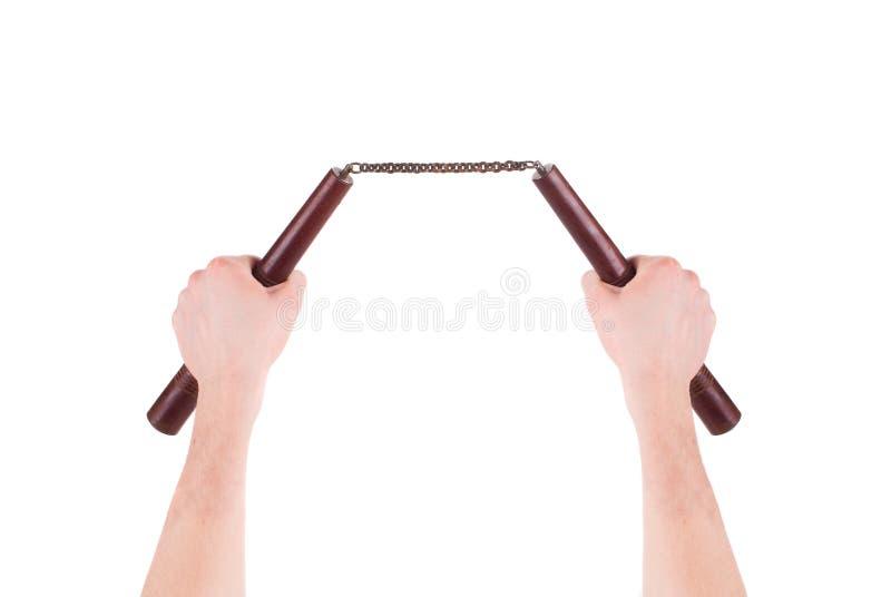 Handgriff-Kampfkünste nunchaku stockbilder