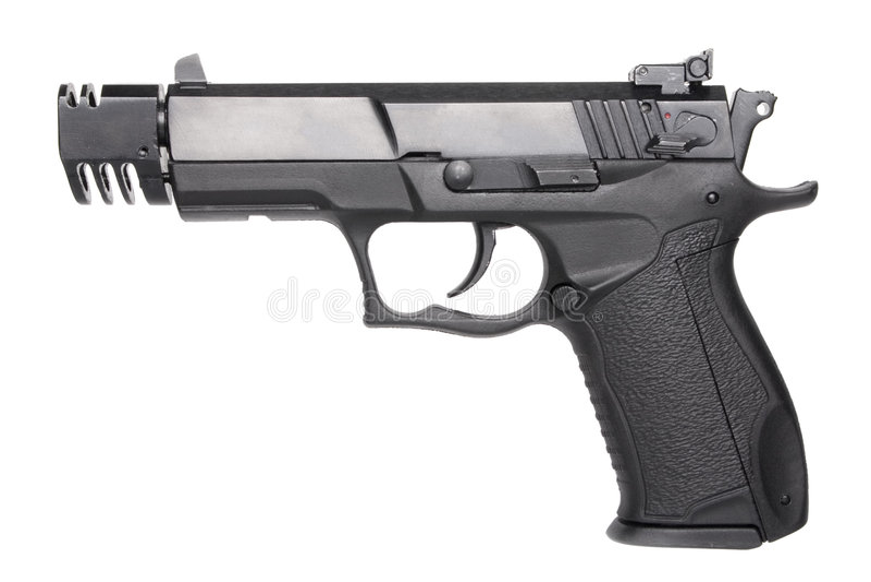 Handgun. Ukrainian 9 mm automatic handgun fort in sport modification stock photography
