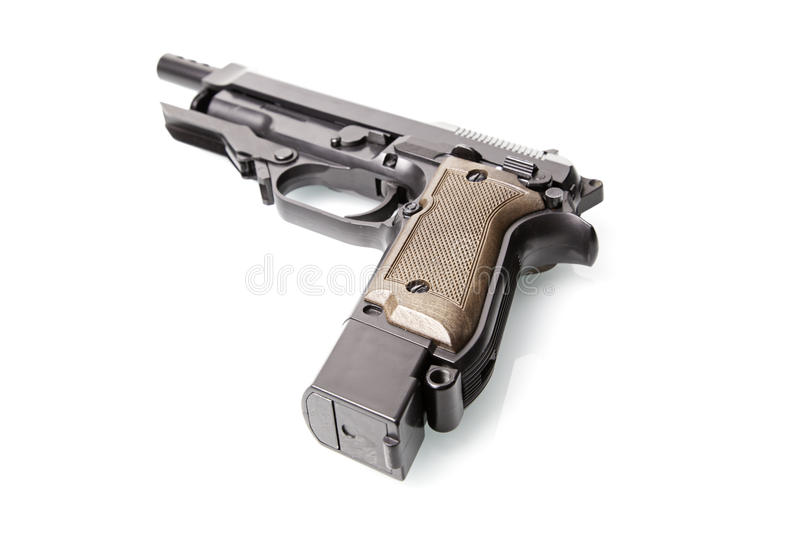 Download Handgun stock photo. Image of murderer, safety, pitch - 28696134