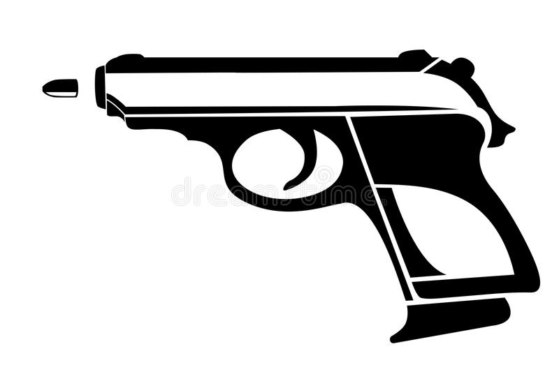 handgun illustrazione di stock