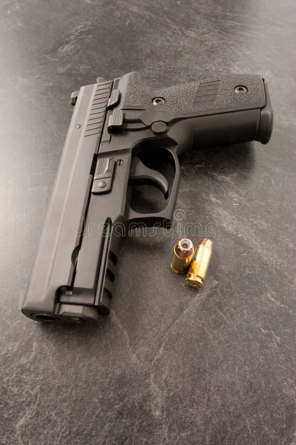 Download Handgun and bullets stock photo. Image of soldier, semi - 8323068