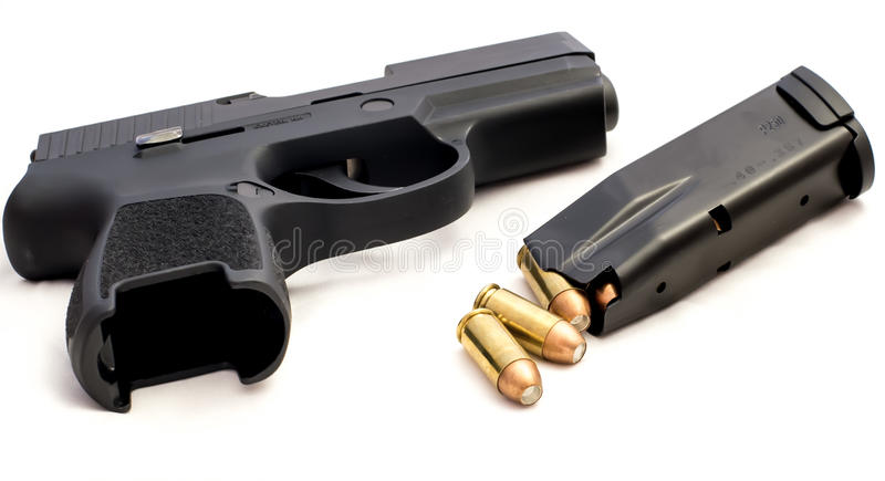 Handgun Bullets Crime Rights Gun stock images