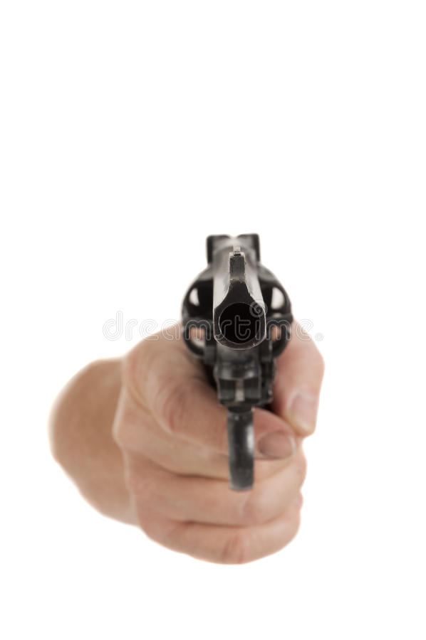 Download Handgun Pointed At Viewer Royalty Free Stock Photo - Image: 18870515