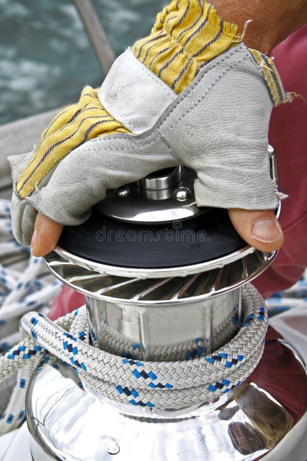 Handhaben Sie Ihr Boot lizenzfreies stockfoto