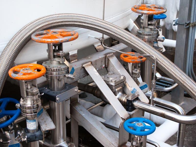 Handhabungsgeräte des flüssigen Stickstoffes stockfotos