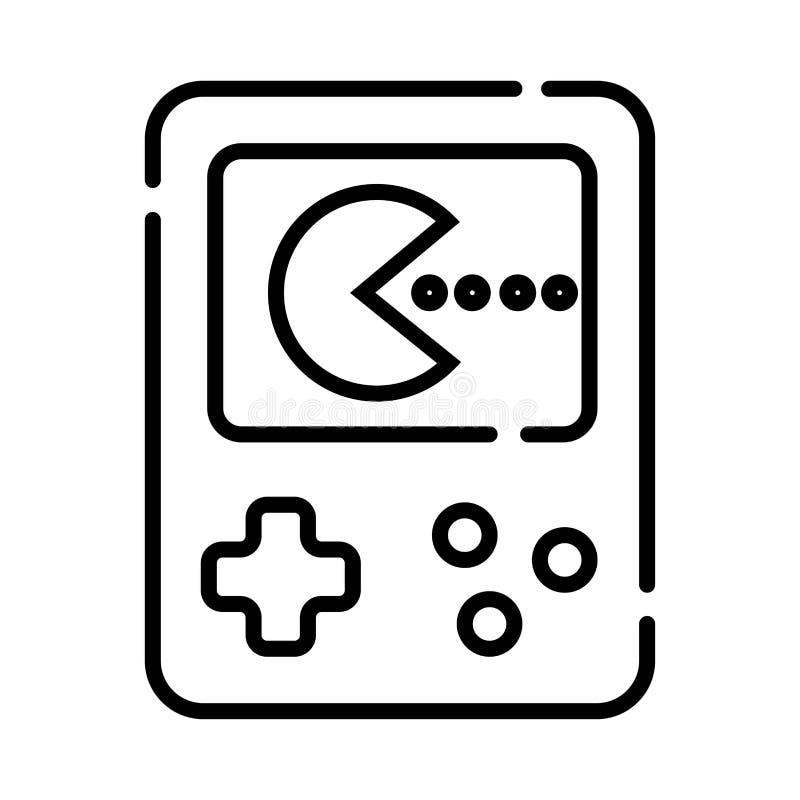 Handheld консоль игры иллюстрация штока
