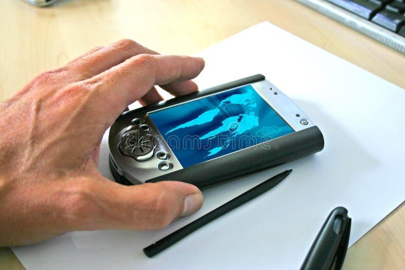 Download Handheld foto de stock. Imagem de escritório, horizontal - 539534