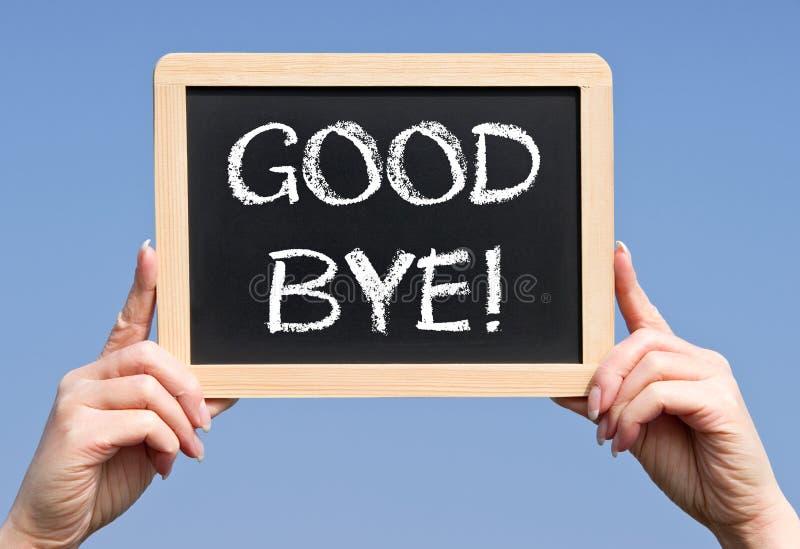 Handheld Chalkboard Good Bye Royalty Free Stock Photos