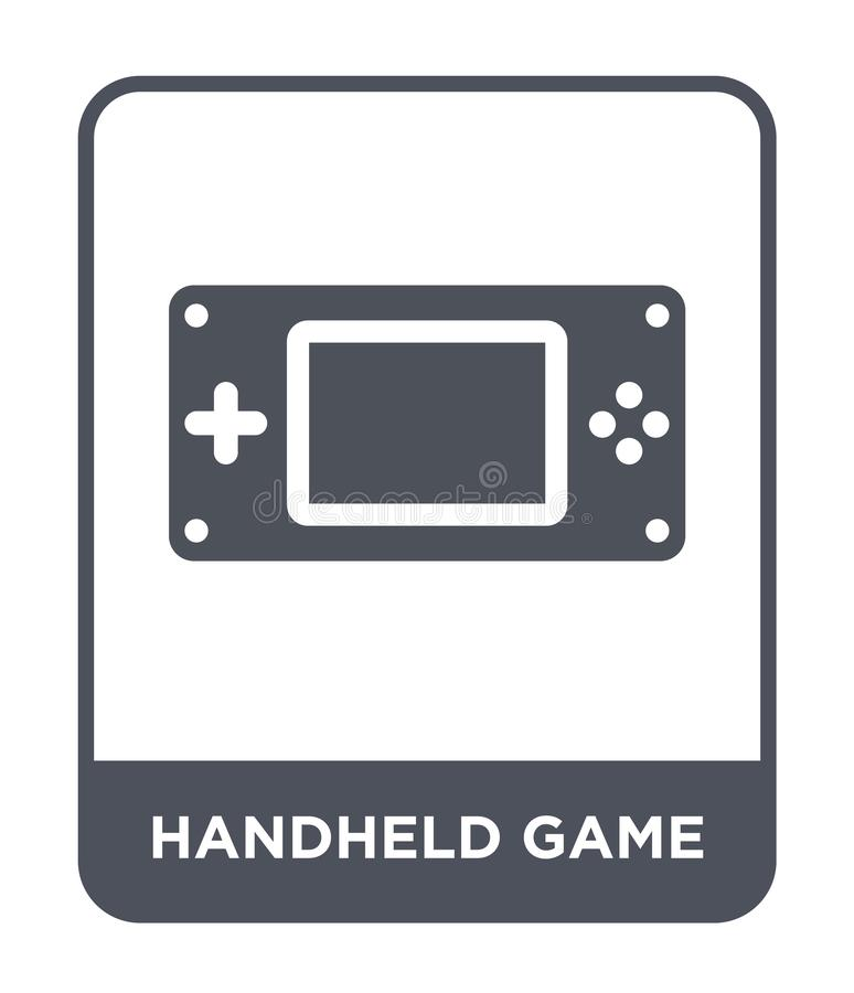 Handheld game icon in trendy design style. handheld game icon isolated on white background. handheld game vector icon simple and. Modern flat symbol for web royalty free illustration