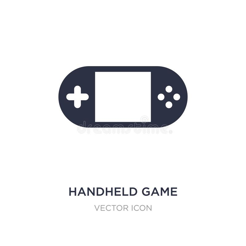 Handheld game icon on white background. Simple element illustration from Entertainment and arcade concept. Handheld game sign icon symbol design stock illustration