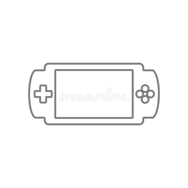 Handheld gemowa konsoli ikona Element sie? dla mobilnego poj?cia i sieci apps ikony Kontur, cienka kreskowa ikona dla strona inte ilustracji