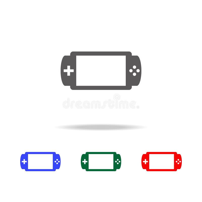 Handheld gemowa konsoli ikona Elementy w wielo- barwionych ikonach dla mobilnych pojęcia i sieci apps Ikony dla strony internetow royalty ilustracja