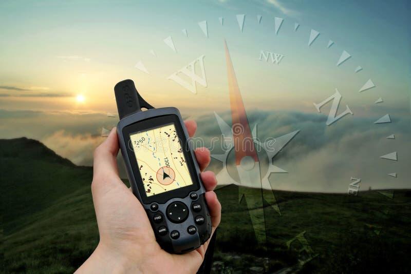 handheld gps fotografering för bildbyråer